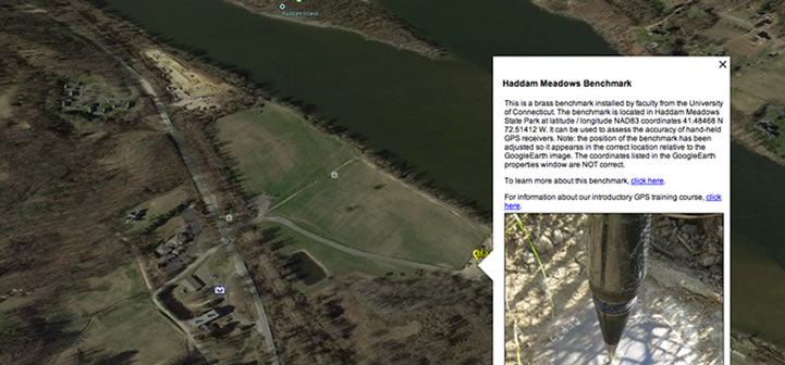 example of a georeference image in Google Earth