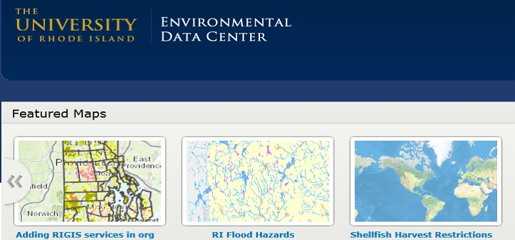 University of Rhode Island Environmental Center Screen Capture